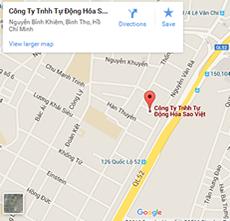 Bản đồ đường đi đến công ty Sao Việt